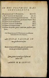 In hoc volumine haec continentur Rhetoricorum ad C. Herennium Libri IIII