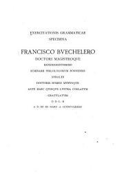 Exercitationis grammaticae Specimina
