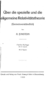 Über die spezielle und die allgemeine Relativitätstheorie: (Gemeinverständlich)