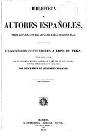 Dramáticos posteriores a Lope de Vega, 1