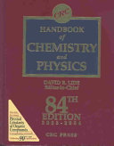 CRC Handbook of Chemistry and Physics, 84th Edition