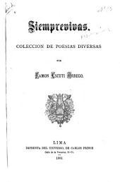 Siemprevivas: colección de poesías diversas