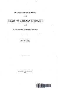 THIRTY SECOND ANNUAL REPORT OF THE BUREAU OF AMERICAN ETHNOLOGY TO THE SECRETARY OF TEH SMITHSONIAN INSTITUTE PDF