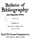 Bulletin of Bibliography   Magazine Notes PDF