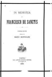 In memoira di Francesco de Sanctis