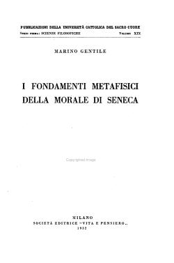 I fondamenti metafisici della morale di Seneca PDF