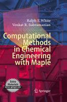 Computational Methods in Chemical Engineering with Maple PDF