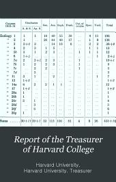 Statement of the Treasurer of Harvard College
