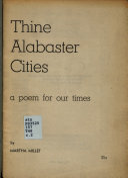 Thine Alabaster Cities PDF
