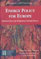 Energy Policy for Europe PDF
