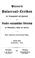 Pierer s Universal Lexikon der Vergangenheit und Gegenwart PDF
