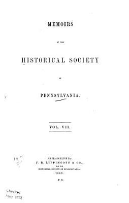 Memoirs of the Historical Society of Pennsylvania PDF