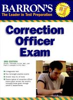 Barron s Correction Officer Exam  3rd Ed  PDF