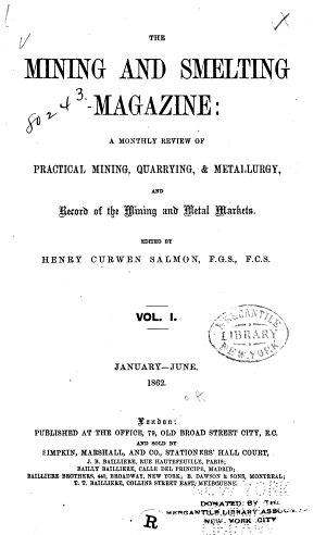 The Mining and Smelting Magazine