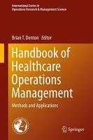 Handbook of Healthcare Operations Management PDF