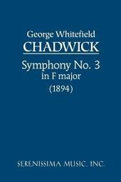 Symphony no. 3 in F major (1894): Study score