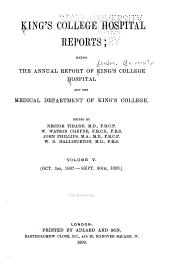 King's College Hospital Reports: Volume 5