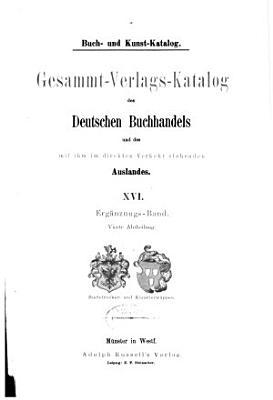 Buch  un Kunst Katalog  1 3  Abt  Erg  nzungs Band  7 v   PDF