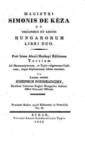 De originibus et gestis Hungarorum libri II.