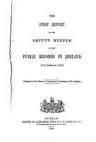 Report of the Deputy Keeper of the Public Records in Ireland PDF