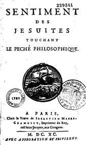 Sentiments des Jésuites touchant le péché philosophique