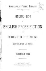 Finding List of English Prose Fiction and Books for the Young PDF