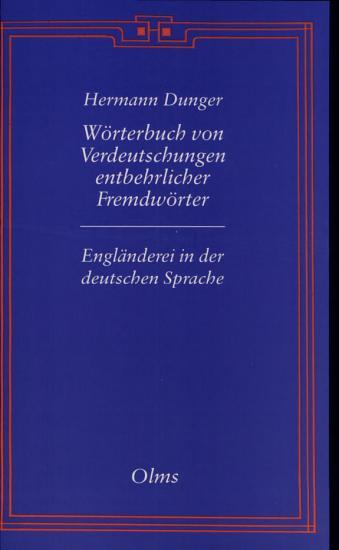 W  rterbuch von Verdeutschungen entbehrlicher Fremdw  rter PDF