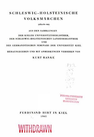 Schleswig Holsteinische Volksm  rchen PDF