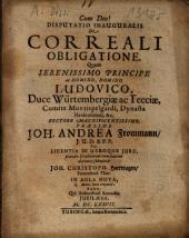 Disputatio Inauguralis De Correali Obligatione