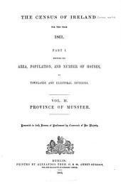 The Census of Ireland for the Year 1861: Part 1, Volume 2