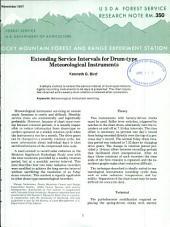 Extending service intervals for drum-type meteorological instruments
