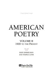 The Facts on File Companion to American Poetry PDF