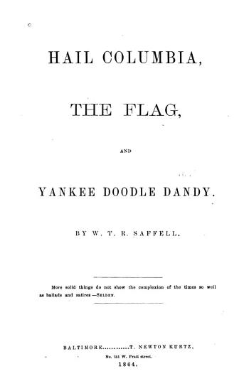 Hail Columbia  the Flag  and Yankee Doodle Dandy PDF