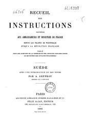 Recueil des instructions données aux ambassadeurs et ministres de France depuis les traités de Westphalie jusqu'a la révolution Français: Volume2