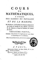 Cours de mathématique à l'usage des gardes du pavillon et de la marine: Volume3