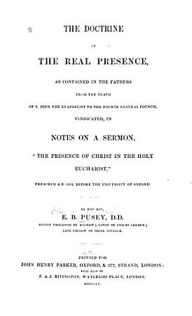The Doctrine of the Real Presence PDF