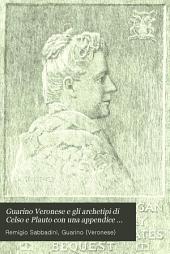 Guarino Veronese e gli archetipi di Celso e Plauto con una appendice sull' Aurispa
