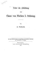 Ueber die Abbildung einer Classe von Flächen 5. Ordnung