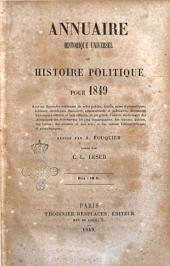 Annuaire historique universel, ou Histoire politique pour ...