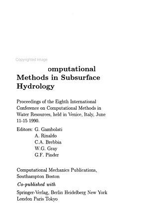 Computational Methods in Subsurface Hydrology