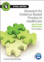 Research for Evidence Based Practice in Healthcare PDF
