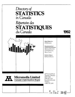 Directory of Statistics in Canada PDF
