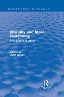 Morality and Moral Reasoning  Routledge Revivals  PDF