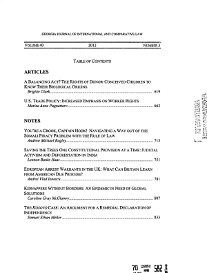 The Georgia Journal of International and Comparative Law PDF