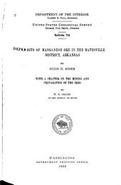 Deposits of Manganese Ore in the Batesville District, Arkansas: Issues 731-734