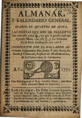 Almanak y kalendario general: diario de Quartos de Luna