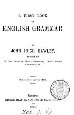 A first book of English grammar PDF
