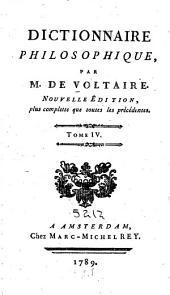 Dictionnaire philosophique: Volume4