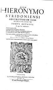 Opera omnia quae repiri potuerunt: Volume 8