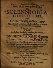 Dissertatio Iuridica De Solenni Oblatione Debiti